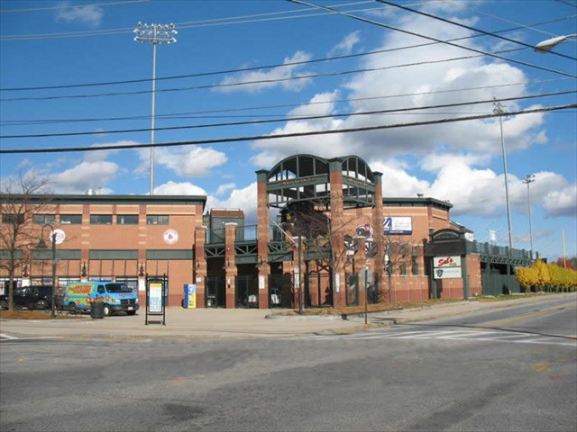 Boston Red Sox Class A Affiliate - LeLacheur Baseball Park - Lowell Massachusetts - Architectural Gates