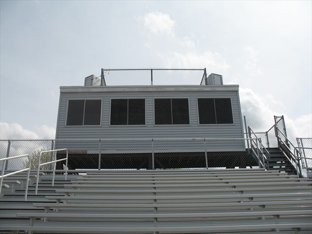 Cawley Stadium - Lowell Massachusetts - New Access Stairway - Stands (Galvanized) Structural Steel For Press Box