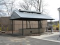 Holy Ghost Park - Lowell Massachusetts - Steel Canopy For Wood Fire Bar-B-Q Pit